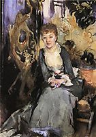 Miss Reubell Seated in Front of a Screen, 1888, sargent
