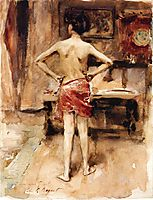 The Model: Interior with Standing Figure, 1876, sargent