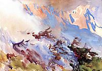 Mountain Fire, c.1908, sargent