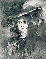 Olga, Baroness de Meyer, 1907, sargent