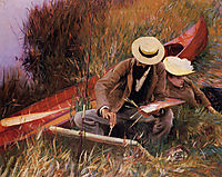Paul Helleu Sketching with his Wife, 1889, sargent