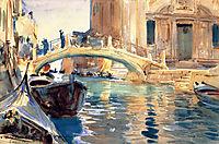 Ponte San Giuseppe di Castello, Venice, 1903-1904, sargent