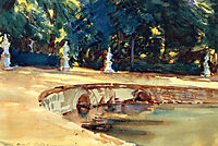 Pool in the Garden of La Granja, 1912, sargent