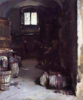 Pressing the Grapes: Florentine Wine Cellar, 1882, sargent