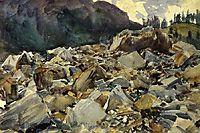 Purtud, Alpine Scene and Boulders, sargent