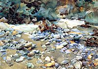 Purtud, Bed of a Glacier Torrent, 1904, sargent
