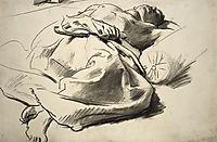 Recumbent draped figure, sargent