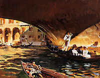 The Rialto, Grand Canal, 1909, sargent