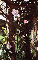 A Rose Trellis, Roses at Oxfordshire, 1886, sargent
