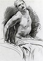 Seated Model with Drapery, sargent