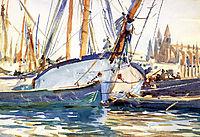 Shipping, Majorca, 1908, sargent