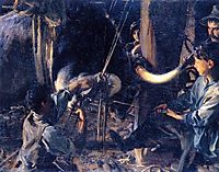 Shoeing the Ox, c.1910, sargent