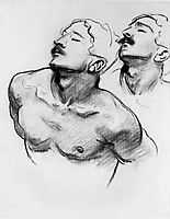 Sketch for the Sorrowful Mysteries, The Carrying of the Cross. Head and Shoulders of a Man, sargent