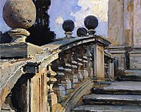 The Steps of the Church of Domenico e Siste in Rome, 1906, sargent