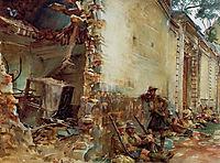 Street in Arras, 1918, sargent