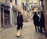 Street in Venice, 1882, sargent