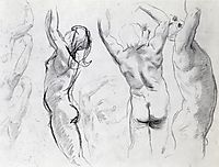 Studies of a Nude Youth, sargent