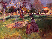 In the Orchard, 1886, sargent