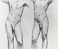 Torsos of two male nudes, sargent