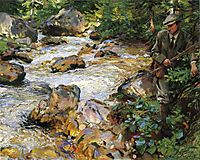 Trout Stream in the Tyrol, 1914, sargent
