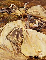 Two Girls in White Dresses, 1909-1911, sargent