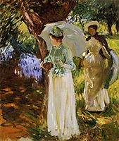 Two Girls with Parasols at Fladbury, 1889, sargent