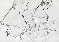 Two studies for Madame X, c.1883, sargent