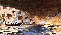 Under the Rialto Bridge, 1909, sargent