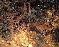 Valdemosa, Majorca Thistles and Herbage on a Hillside, 1908, sargent