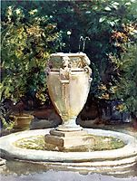 Vase Fountain, Pocantico, 1917, sargent