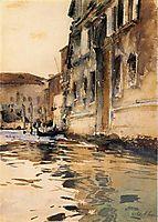 Venetian Canal, Palazzo Corner, 1880, sargent