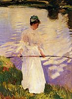 Violet Fishing, 1889, sargent