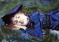 Violet Resting on the Grass, 1889, sargent