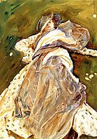 Woman Reclining, c.1908, sargent