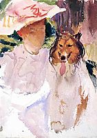 Woman with Collie, c.1925, sargent