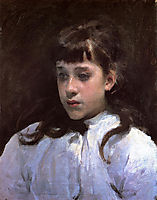 Young Girl Wearing a White Muslin Blouse, 1885, sargent