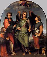 Archangel Raphael with Tobias, St. Lawrence and the Donor Leonardo di Lorenzo Morelli, 1512, sarto