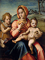 Madonna and Child with the Infant Saint John in a Landscape, sarto