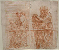 Study of the Figures behind a Balustrade, sarto