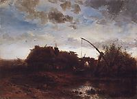 At the well, 1868, savrasov