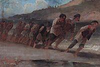 Barge Haulers on the Volga, 1871, savrasov