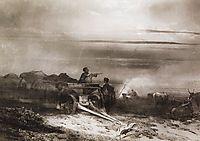 Bivouac in the desert convoy Chumakov, 1867, savrasov