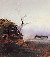 Bonfire of the river, savrasov