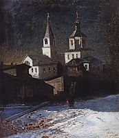 Church of Elijah the ordinary in Moscow, 1882, savrasov