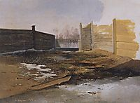Courtyard.Spring., 1853, savrasov