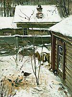 Courtyard.Winter., c.1870, savrasov