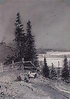 Descent to the river, 1868, savrasov