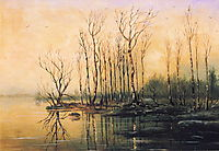 Dimensions and material of painting, 1868, savrasov
