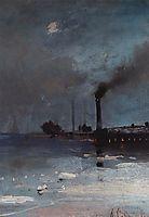 Drifting of ice, c.1890, savrasov