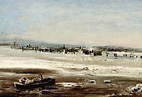 Drifting ice on the Volga, savrasov